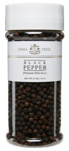 India Tree, Peppercorn Tellicherry, 5 oz (India Tellicherry Tree Pepper)