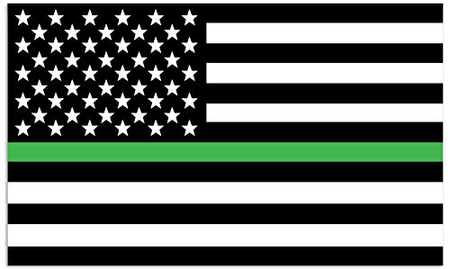 Mind Your Magnets American Flag Car Magnet - Thin Green Line