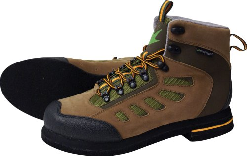 Frogg Toggs Anura Felt Wading Shoe, 11W, Brown/Olive