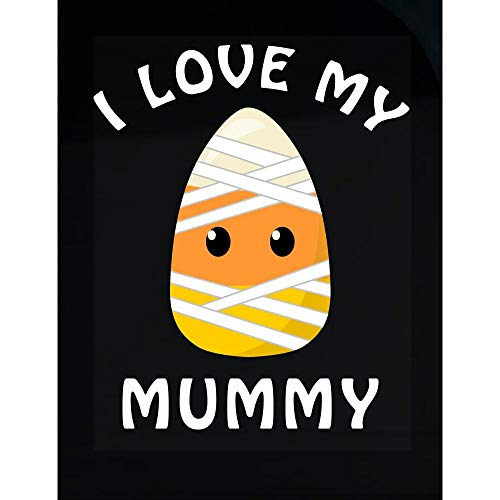 DOLCE INDIGO Halloween Candy Corn I Love My Mummy - Transparent Sticker