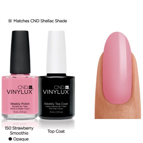 Vinylux CND Duo - Top Coat plus Strawberry Smoothie, 1er Pack (1 x 30 g) CNDV0133