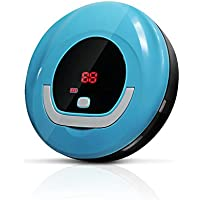 Automatic Robot Cleaner, Thin Robotic Vacuum Sweeper for Pet Hair, Debris and Dust, Designed for Hard Floor - C Blue