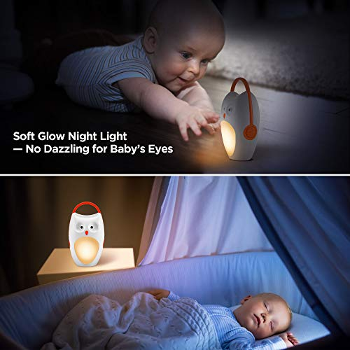 SOAIY Portable Compact Baby Sleep Soother Owl White Noise ...