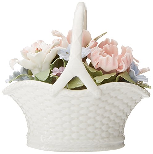 Cosmos 80089 Fine Porcelain Flower Basket Musical Figurine, (Blue Porcelain Bouquet)
