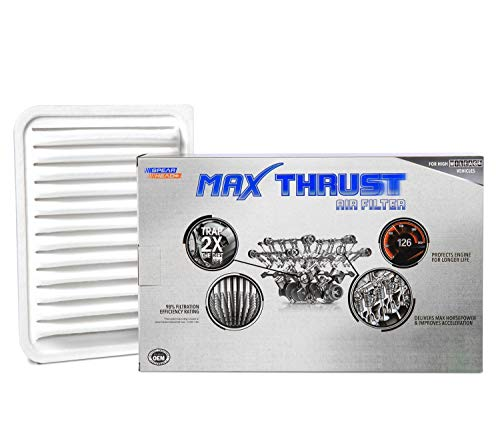 2015 Toyota Corolla Engine - Spearhead MAX THRUST Performance Engine Air Filter For Low & High Mileage Vehicles - Increases Power & Improves Acceleration (MT-190)