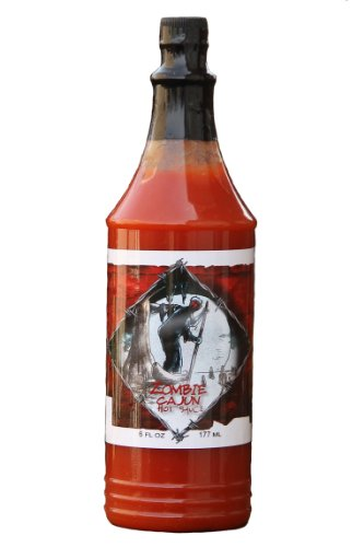 Zombie Cajun Hot Sauce (6oz) Not Just for Novelty Zombie Gifts - Best Louisiana Hot Sauce with Cayenne Pepper and Louisiana Seasonings for Cajun Recipes, Grilling and Marinades