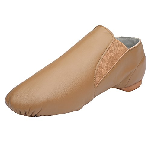 CIOR-Leather-Jazz-Dance-Shoes-Slip-OnWomenToddlerLittle-KidBig-KidMenDNDJSCaramel37