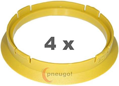 4/X Anello Di Centraggio in plastica 74.1/mm su 66.2/mm pistacchi