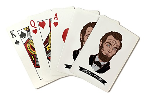 Icon Abraham Lincoln - Honest, Illinois - Abraham Lincoln - Icon (Playing Card Deck - 52 Card Poker Size with Jokers)