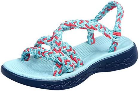 Thenxin Women`s Summer Comfort Flat Sandals Woven Cross Strappy Sport Casual Sandals Shoes / Thenxin Women`s Summer Comfort Flat Sandals Woven Cross Strappy Sport Casual Sandals Shoes
