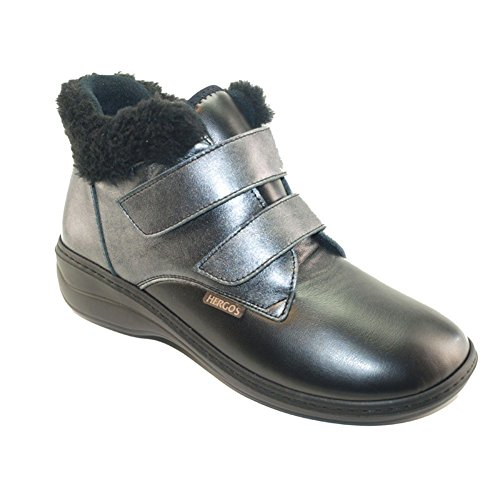 Sabatini Calzature Hergos H 948schwarz Pearl Nappaflex–Schuh bequem für Hallux Valgus–Rabatt letzten Zahlen Schwarz