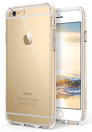 iPhone 6S Plus Case for Both Men and Women Ringke [FUSION] [Natural Apple Look] Crystal Transparent PC Back Flexible TPU Cover with Screen Protector for Apple iPhone 6 Plus (2014), 6S Plus (2015)