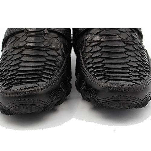 Moda Fatte Scarpe Scarpe Gamma A Pigre Moda Mano Basse Alta Pelle Casual da Black Uomo Scarpe di in SqxC47Sg
