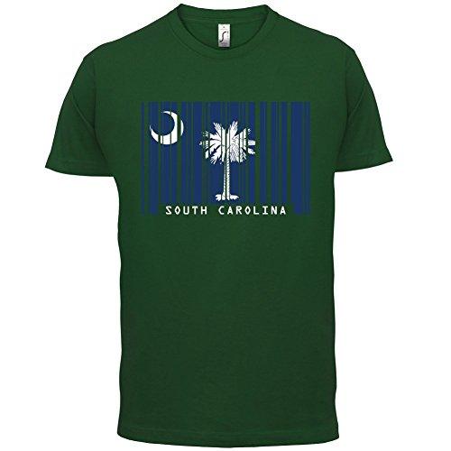 South Carolina / Süd-Carolina Barcode Flagge - Herren T-Shirt - Flaschengrün - L