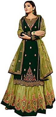 stylishfashion Indian/Pakistani Christmas Special Party Ethnic wear gharara Lengha Style Salwar Kameez Suit fo
