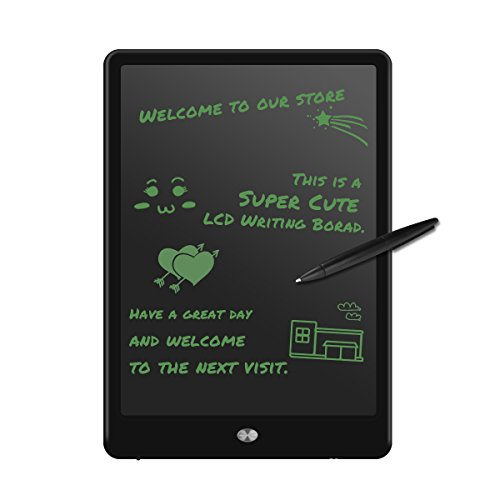 M.Way 10 Inch LCD Writing Tablet Drawing Graphics Board with Wireless Digital Pen Message Board Screen Handwriting Pad Paperless Digital Drawing Write Tool Graffiti Board Black