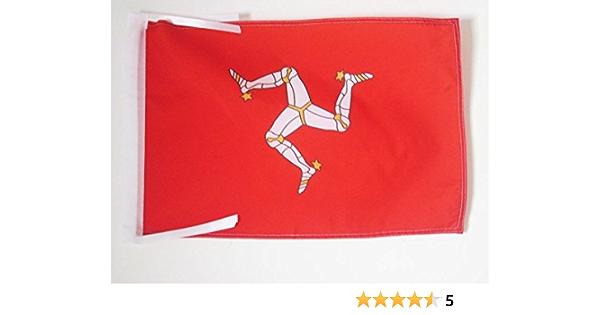 Az Flag Isle Of Man Flag 18 X 12 Cords Manx English Small Flags 30 X 45cm Banner 18x12 In Garden Outdoor Amazon Com
