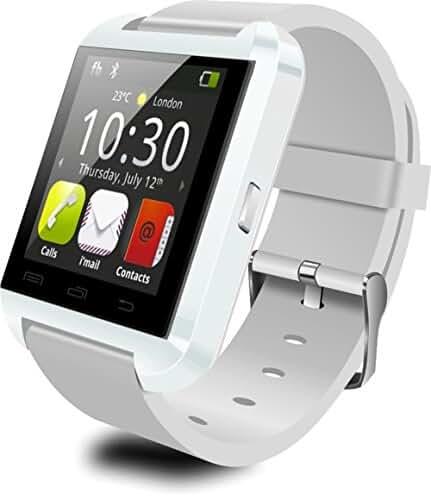 Dancotek Smart Watch Bluetooth Activity Fitness Tracker Pedometer Sleep Monitor (White)