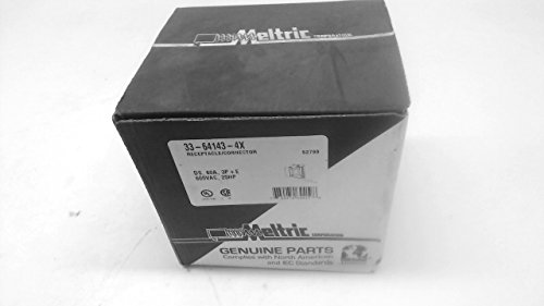 Meltric 33-64143-4X Receptacle/Connector Ds 60A 3P+E 600Vac 25Hp 33-64143-4X