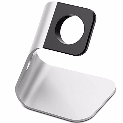 New Creative Charging Stand Bracket for iWatch,Aluminum Alloy Arc Dock Station Charging Cradle Holder for iPhone (Silver) (Stand Creative)