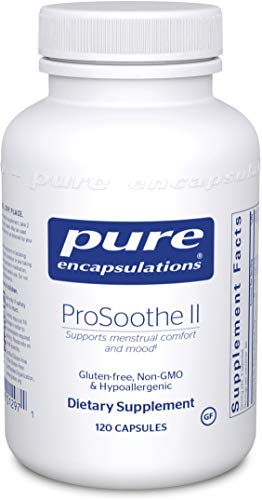 Pure Encapsulations – ProSoothe II – Hypoallergenic Supplement Supports Menstrual Comfort, Mood, Fatigue and Reduces Cravings* – 120 Capsules Review