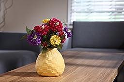 Hosley\'s Set of 2 Ceramic Yellow Vases - 6.5\