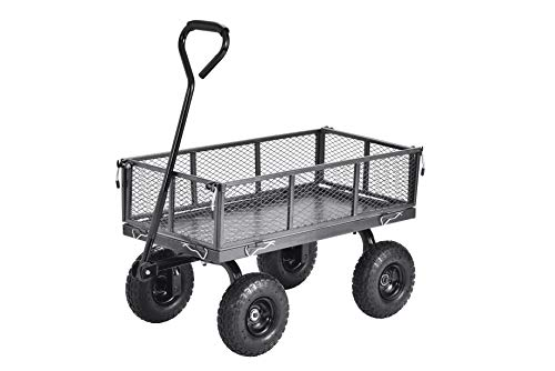 Muscle Carts CW3418-SV Steel Utility Garden Wagon