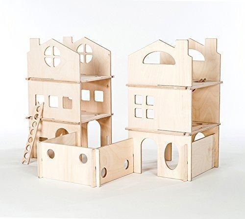Modular Dollhouse Towers by Manzanita Kids