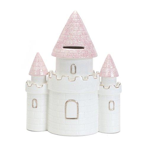 Child to Cherish Ceramic Dream Big Princess Castle Piggy Bank for Girls, Pink by Child to Cherish (Image #4)