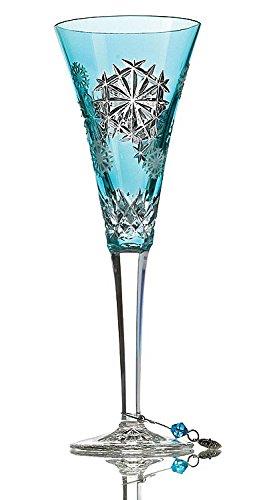 Aqua Snowflake - Waterford Snowflake Wishes Happiness Prestige Edition Flute Aqua