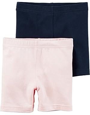 Little Girls' 2-Pack Bike Shorts