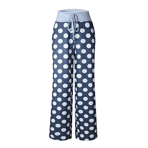 Floral Yoga Gris Elasticos Pantalones Mujer Pantalón Anchos Fashionyoung Vintage Cintura Deportivos Pijama Pants Cordón Elegantes wSIp67