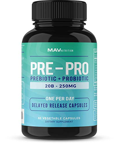 Probiotics + Prebiotics for Digestive Enzymes Support; Good Bacteria Body Health; Assists in Weight Loss with Normal Digestion; Non-GMO, All-Natural, Gelatin-Free; Vegetarian Friendly