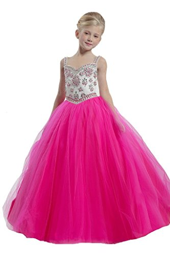 GreenBloom Spaghett Girls'Pageant Ball Gowns Dress 4 US Plum