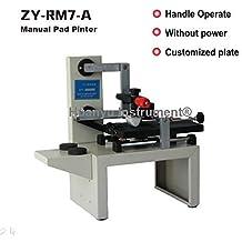 ZY-RM7-A Desktop Handle Manual Pad Printer printing machine Move ink printing machine