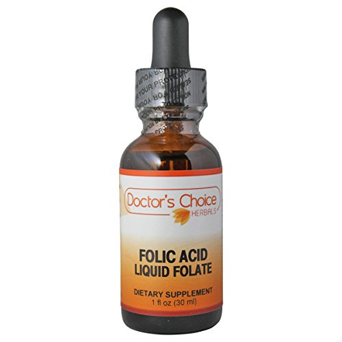 Kosher Folic Acid (Doctor's Choice Folic Acid Liquid Folate Dietary Supplement with 400mg Folate, 30ml, Kosher – PREMIUM QUALITY – Glass Bottle.)