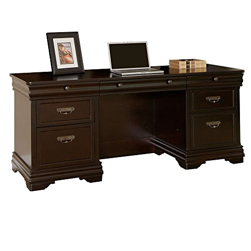 Beaumont Double Pedestal Credenza Deep Java Finish Dimensions: 72''W x 24''D x 30''H Weight: 394 lbs by Martin Furniture