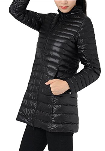 Down Puffer Women's amp;W Fashion Coats Long amp;S Sleeve Black Ultra Packable Winter M wTSUvqHv