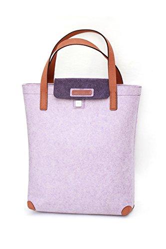 Felt Shopper Bag Felt Tote Bag Felt Shopping Bags LuckySign-Simeles Purple