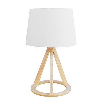 Mr.Fragile Lámpara de Mesa de Madera con trípode, lámpara ...