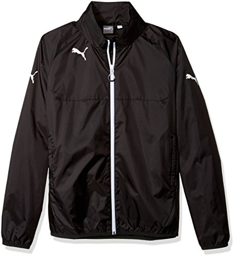 Puma Men's Rain Jacket, Large, Black-White (Puma Soccer Jacket)