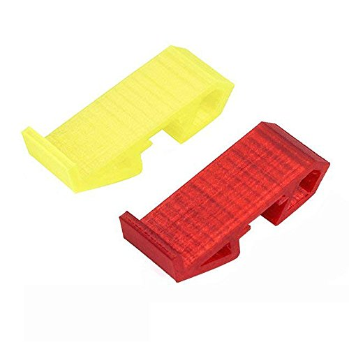 nidici TPU Landing Gear 1s 2s 3s Lipo Battery Mount Plate Protector Guard with Antiskid Lipo Strap For FPV 110mm-130mm Quadcopter Racing Drone (red and (Yellow Quad)