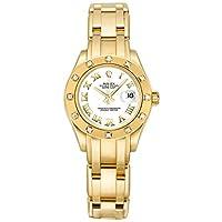 Rolex Pearlmaster Solid 18k Gold Diamond Women's Watch 80318
