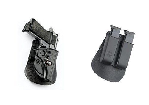 Fobus Pistol Case Paddle Holster + 6922 Double Magazine Pouch for Walther PPS 9mm & .40cal