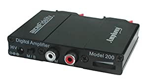 microFidelity Audio Amplifier, Model 200 Black