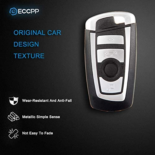 ECCPP Replacement fit for Uncut 315MHz Keyless Entry Remote Key Fob BMW Series KR55WK49863 Pack of 2