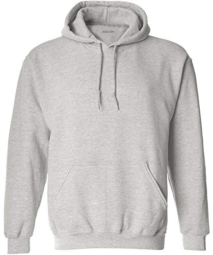 Ash Sweatshirt Zippered - Joe's USA - Big Mens Size Three Extra Large Hoodie Sweatshirts-3XL in Ash