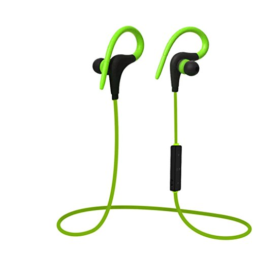 Price comparison product image DZT1968 Universal Wireless Sports Stereo Sweatproof Bluetooth Earphone Headphone Earbuds Headset (Green)