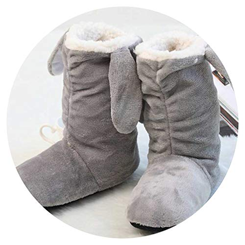 2018 Winter Warm Indoor Slipper for Women's at Fashion Home Slippers Warm Plush Household Shoes chinelos Femininos Botas,Gray,8