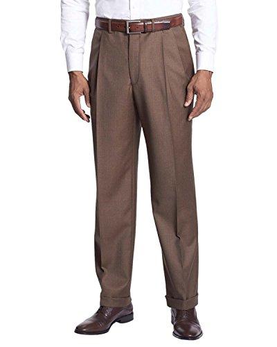 Lauren By Ralph Lauren Double-Reverse Pleat Dress Pants Light Brown 32x30